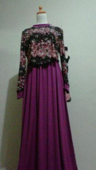 Victoria Tile Magenta 1 Butik Baju Muslimah Pashmina